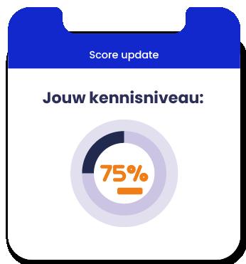 Score update kennisniveau in percentage